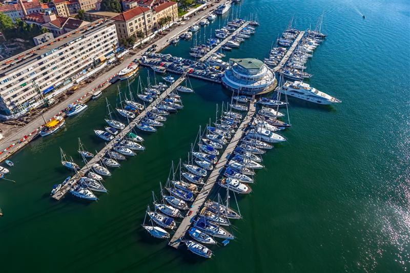 Marina with boats and sailboats, Adriatic tourist destination Pula, Croatia