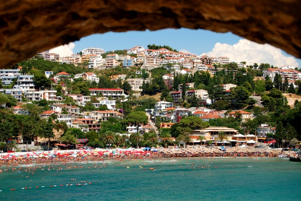 Beach in Ulcinj, Montenegro
