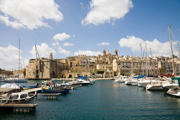 The harbour between Senglea and Birgu in Malta